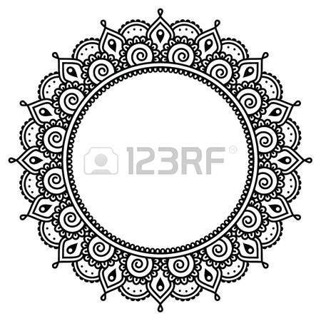 henna tattoo muster anleitung mehndi indian henna runden muster lizenzfreie