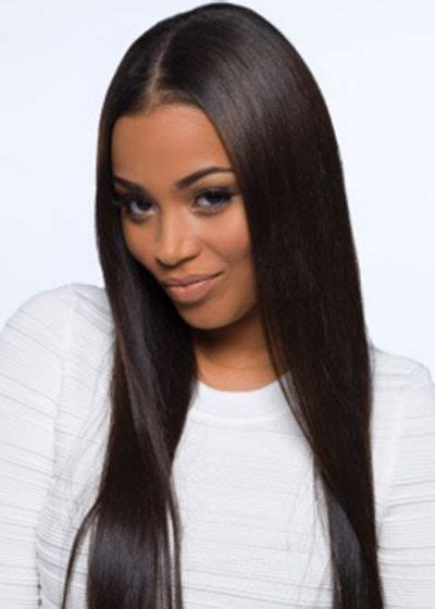 middle part black hairstyles lauren london love the sleek straight hair and the middle