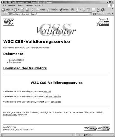 html validation w3c data2type gmbh css seiten validieren