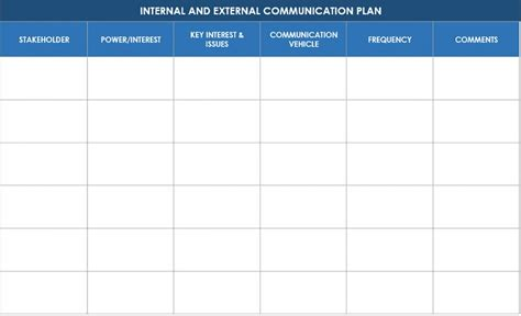 Donor Communication Plan Template Ic Internal And External Stakeholder Communication Plan Donor Engagement Plan Template