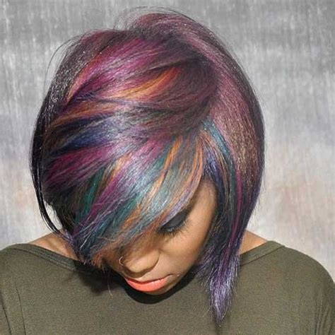 multie colored bob hair styles 15 cool funky short hair styles short hairstyles 2016