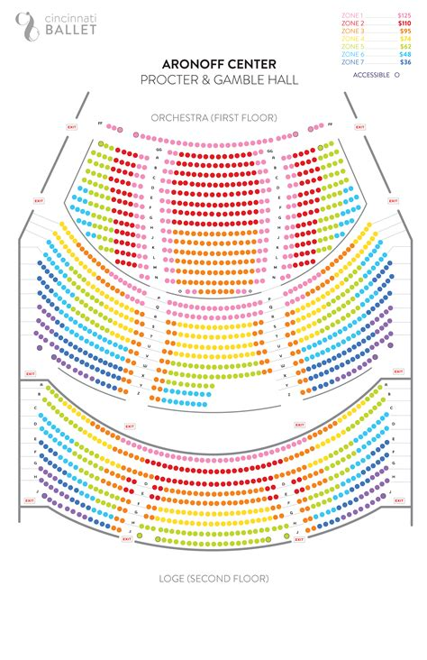 aronoff center seating aronoff seating chart procter gamble aronoff center