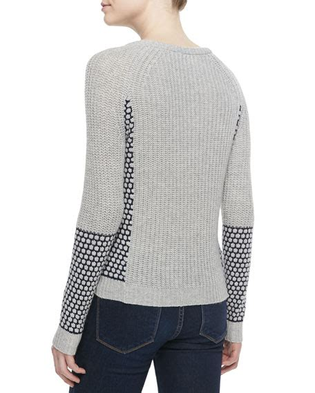 Sweater Chelsea H09 1 bela nyc chelsea patterned ribbed sweater
