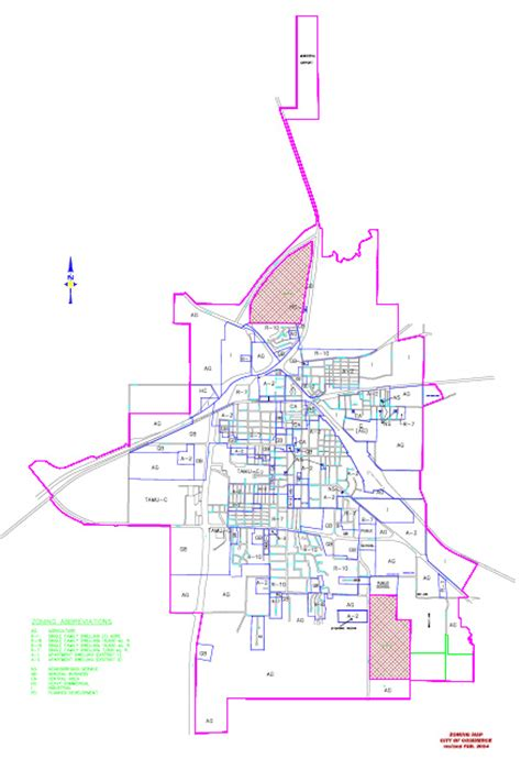 commerce texas map city of commerce city map