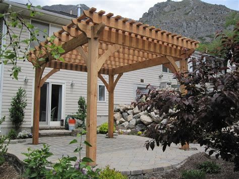 Timber Patio by Finish Timber Frame Pergola Kit Install