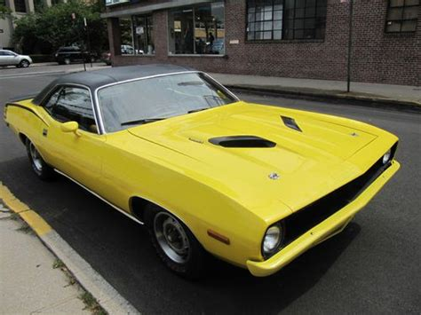 Handgrip Barracuda purchase used 1970 plymouth cuda 440 6 pack banana yellow pistol grip in ny united states