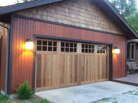 wood grain steel garage doors
