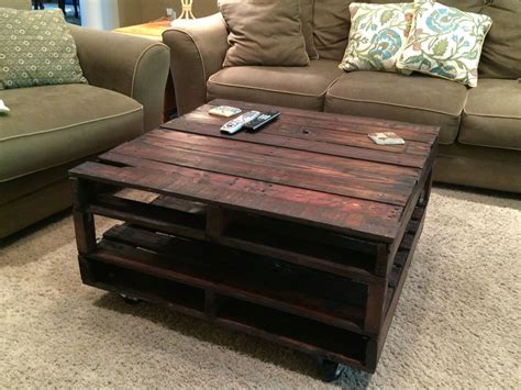 coffee table out of pallets wood pallet coffee table