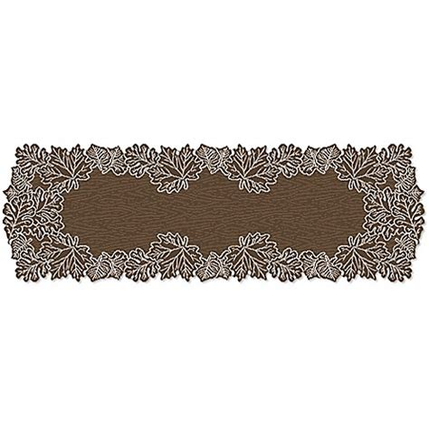 60 inch table runner buy heritage lace 174 leaf 60 inch table runner in earth from