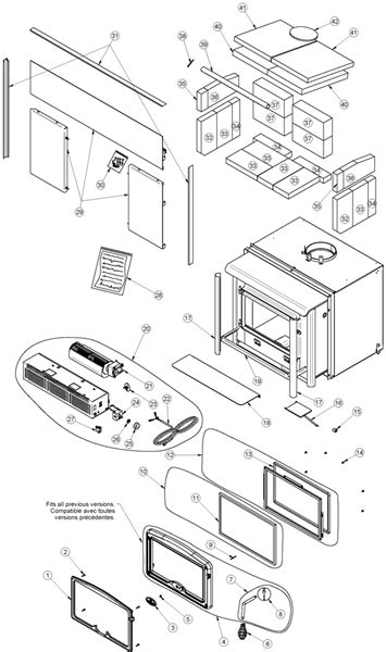 Fireplace Inserts Parts by Fireplaceinsert Every Part For The Osburn 1600