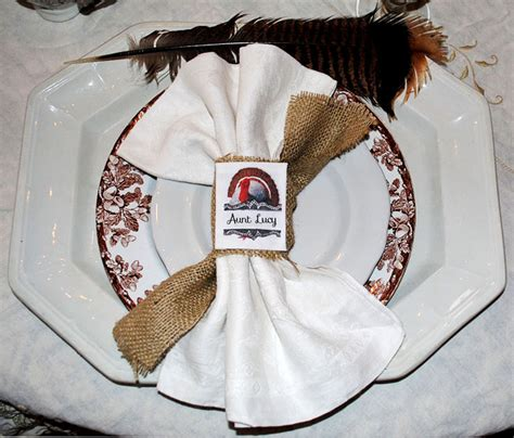 indian and pilgrim photo place cards and napkin ring template make thanksgiving place cards napkin rings with