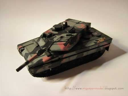 Tank Papercraft - leopard 2a6 german battle tank papercraft leopard