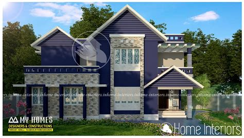 contemporary modern house plan with 1700 square feet and 3 1700 square feet 3 bhk double floor contemporary home design