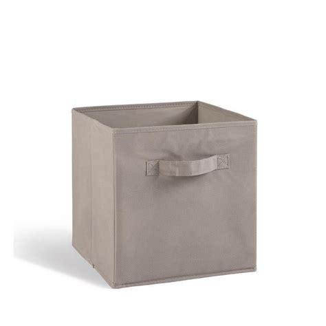 tiroir de rangement en tissu compo tiroir de rangement tissu gris 27x27x28 cm achat