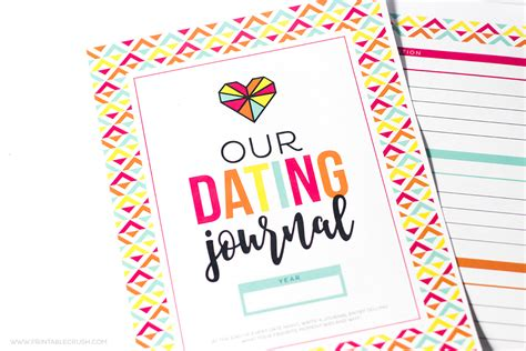 printable dated journal pages fun and free printable dating journal printable crush