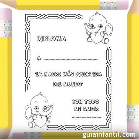 diplomas de madre diploma para la madre m 225 s divertida dibujos para colorear