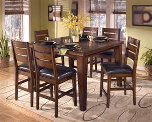 larchmont 7 piece butterfly leaf counter height dining set by dining rooms outlet