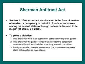 sherman act section 1 spengler chap10