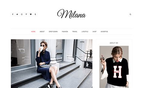 stylish templates for blogger milana responsive fashion blogger template