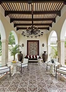 La Hacienda Fireplace - le motif carreaux de ciment dans l int 233 rieur archzine fr