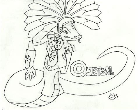Quetzal Bird Guatemala Coloring Page Sketch Coloring Page Quetzal Coloring Page