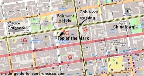 san francisco map nob hill top of the cocktails or brunch on top of the
