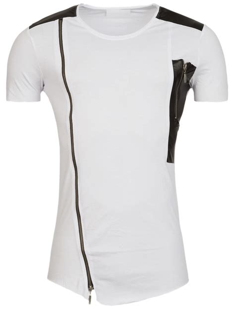 White Zipper Pocket Shirt 2 y r faux leather side zipper shirt white fashion leather fashion and