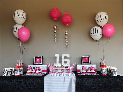 sweet 16 decoration ideas home sassy sweet sixteen taking a lil walk on the wild side