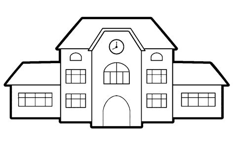 coloring page school building coloring page of a school building coloring home