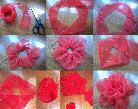 organza bow tutorial diy organza ribbon flower flowers ribbons and bows