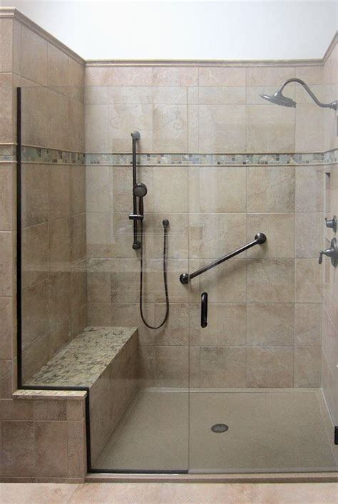 shower built in bench spacious shower with built in bench grab bar and