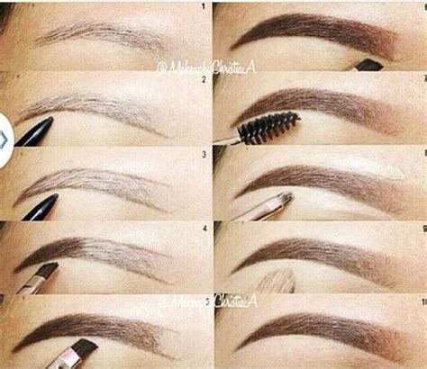 12 Tips On How To Pluck Your Eyebrows by How To Fill In Your Eyebrows Eyebrow Shaping Tutorial