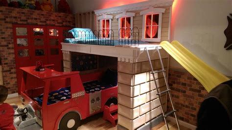 fire truck bed with slide a firefighter room fit for a king school lockers blog
