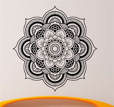 at home wall decor mandala om yoga flower sign wall sticker home decor wall