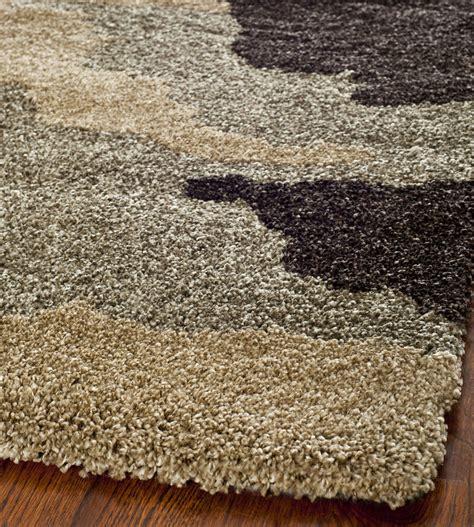 power loomed ultimate beige multi shag area rug 8 x 10