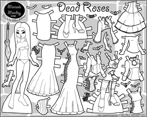 paper dolls coloring pages coloring home