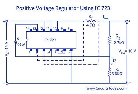 integrated circuit ic voltage regulators ic 723 voltage regulators working circuit diagram applications
