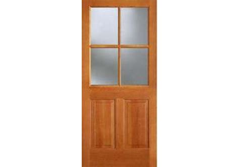 Ab7444 Vertical Grain Douglas Fir Exterior 4 Lite With 2 4 Panel Exterior Door