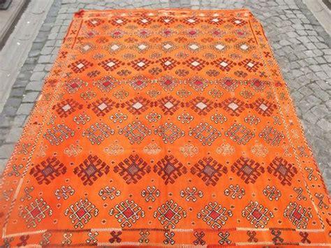 bright orange rug modern decorative kilim rug bright orange handembroidered kilim rug