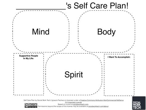 social work tech 187 making a self care plan on ipad