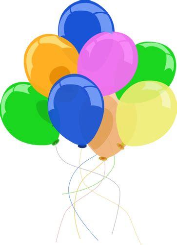 25 Balon Warna Warni Badut balon warna warni gambar domain publik vektor
