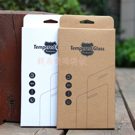 Tempered Glass Zagbox kraft paper retail package packaging box for mobile phone tempered glass screen protector