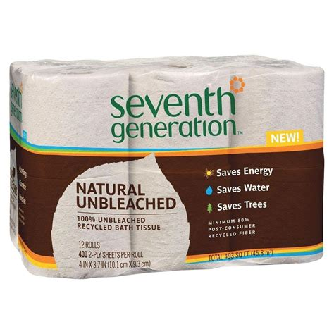 seventh generation bathroom tissue seventh generation unbleached 100 recycled bathroom tissue 2 ply 12 rolls per pack