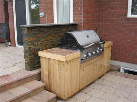 Backyard Grill Station Grilling Station Traditional Deck Ottawa