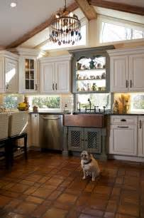 Dura Supreme Cabinets Tri Color Kitchen Rustic Kitchen Huntington By