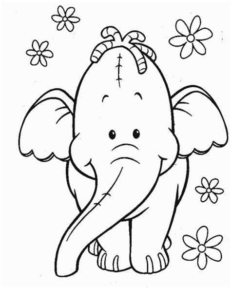 imagenes blanco y negro tiernas 22 dibujos de elefantes tiernos para colorear elefantes