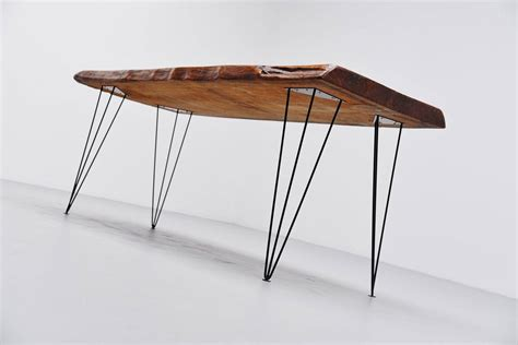 Tree Trunk Dining Table Tree Trunk Dining Table With Hairpin Legs 1950 At 1stdibs