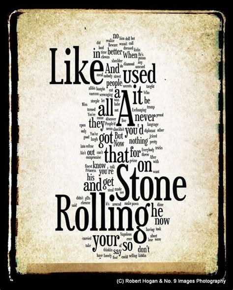 stones like stones like a rolling lyrics bob word word by