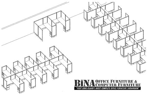 Cubicle Floor Plan by Bina Office Furniture Queens Fabric Office Cubicle