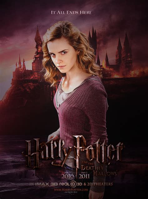 emma watson poster fan poster hp 7 hermione 2 by amidsummernights on deviantart